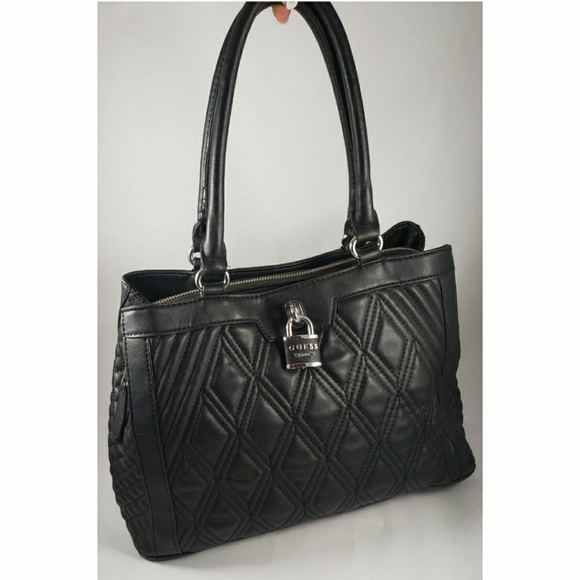 Guess Handbags - Guess Quilted Black Purse w  Lock Accent e0ec8cc29e8fb